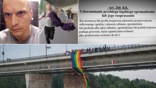 Został pobity podczas zgromadzenia LGBT. Musi sam zapłacić za proces