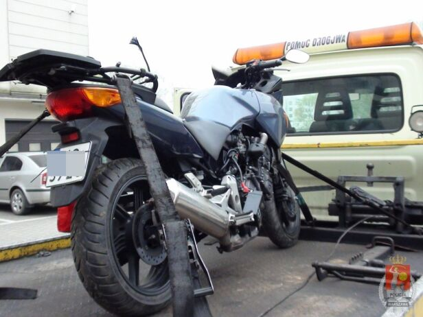 Skradziony motocykl ksp