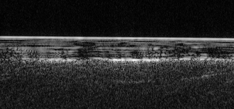 Radar wykrywające podpowierzchniową wodę (ESA/NASA/JPL/ASI/Univ. Rome; R. Orosei et al 2018)