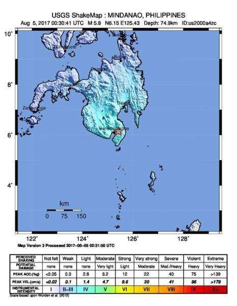Odczuwalna siłą trzęsienia Ziemi
